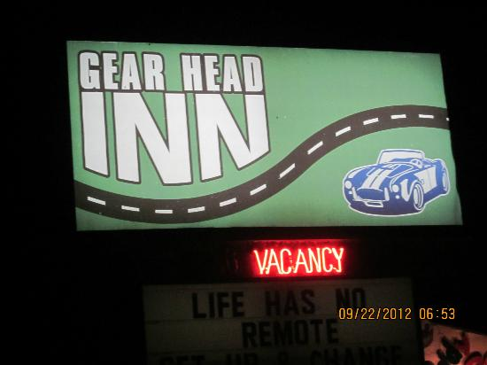 Gear Head Inn: Sign