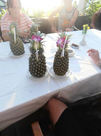 Sunset Beach Resort: The 'pineapples' that we enjoyed ;)