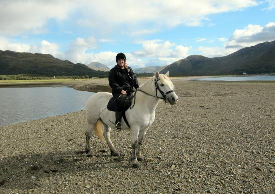 Killiechronan Pony Trekking Isle of Mull: Me on board the wonderful Smokey - a hardy, healthy Highland pony who lives & works at Killiechr