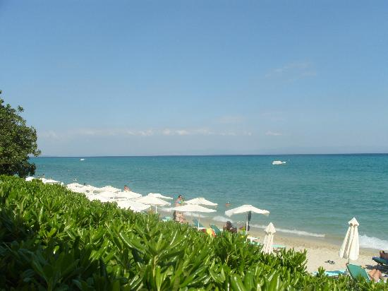 Grecotel Pella Beach: Beach View from Taverna