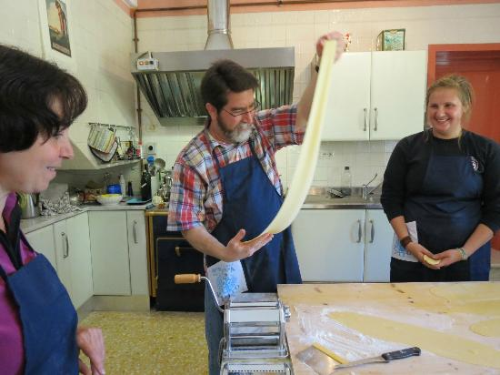 In Campagna Cooking Classes: One of longer pasta sheets!