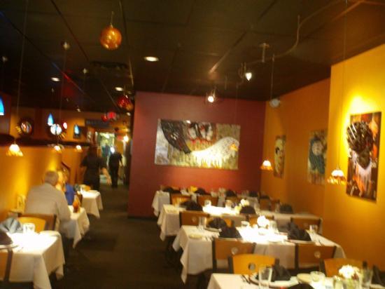 Martini's Restaurant: loved the collage artwork