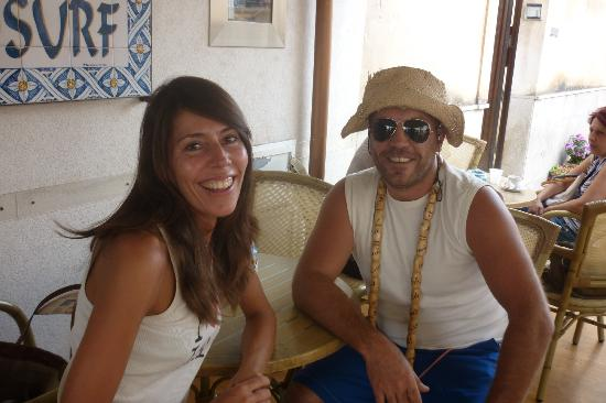 Sanvitosleep : io e il pazzo proprietario Piero (giuro mi ha accolto così!)