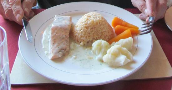 Dhailling Lodge Guest House: Fresh salmon