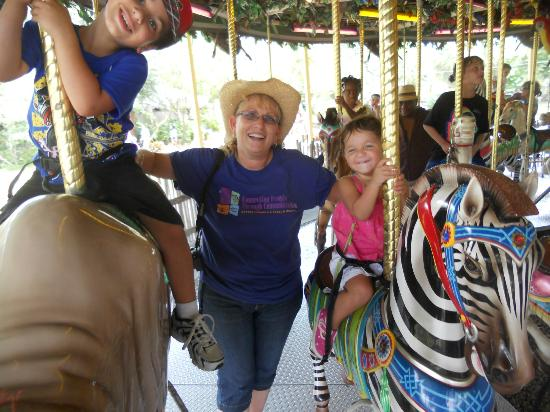 Tampa's Lowry Park Zoo: Merry go round was a blast!