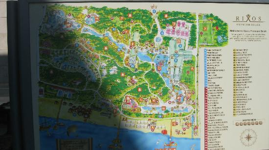 Rixos Premium Belek: map of hotel & facilities