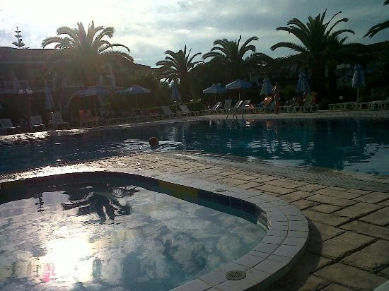 Golden Sun Hotel: the pool (at dusk)