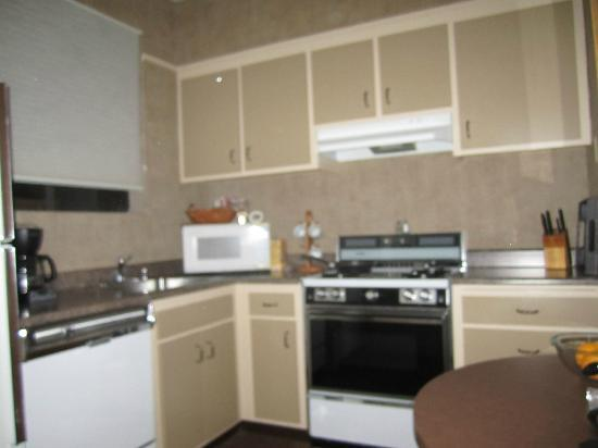 Powell Place: Kitchen, it's not your eyes...blurry picture!