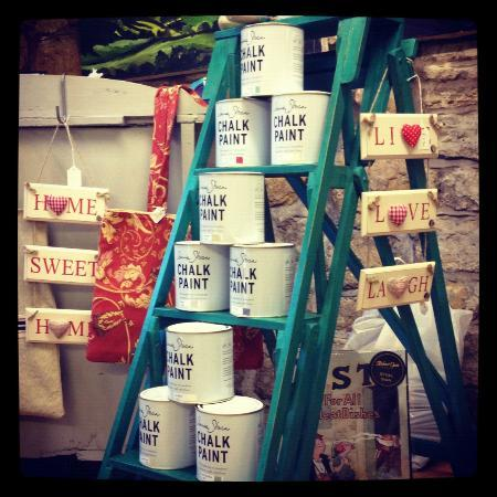 Marilyn & Melrose Studio: Close Up of Annie Sloan Chalk Paint Ladder