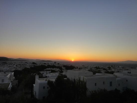 Rochari Hotel: Taking in the sunset from Room 10