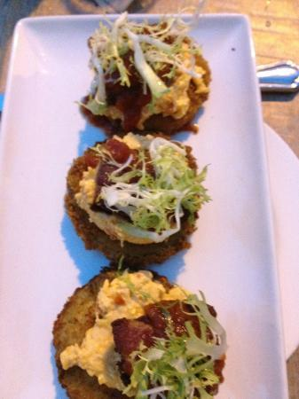 Yardbird - Southern Table & Bar: Fried green tomatoes and pork belly