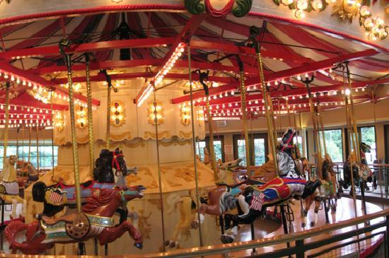 The Burnaby Village Museum's living 1920's village features a running C.W. Parker 1912 Carousel.