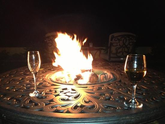 Biltmore Village Inn: the firepit is as good as it gets
