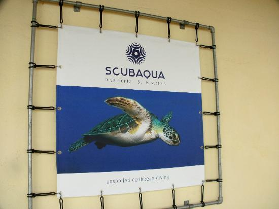 Scubaqua Dive Center: Front of Shop