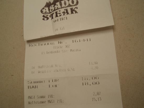 Asado Steak : Asado im Tal