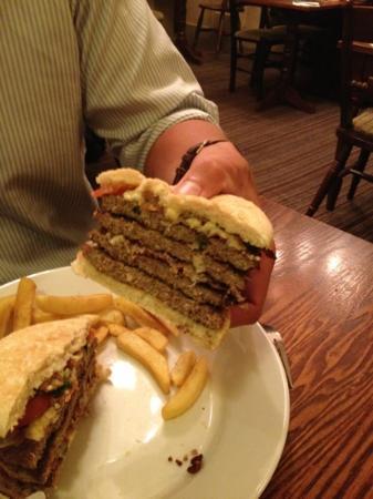 Premier Inn Aylesbury Hotel: the mega burger! supersize me anyone?