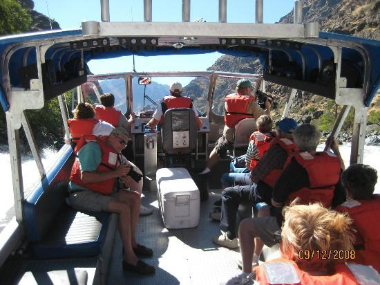 Killgore Adventures Hells Canyon Jet Boat Trips & Fishing Trips: Roomy boat