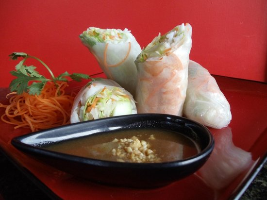 The King and I: shrimp fresh roll