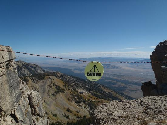 Jackson Hole Aerial Tram: Top of Corbet's Couloir