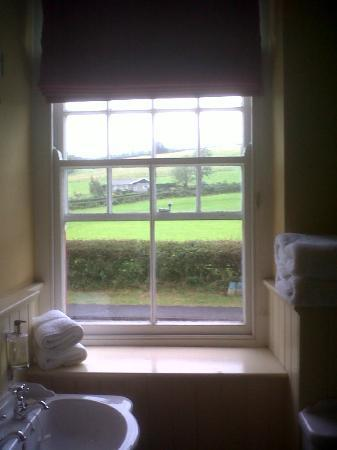 The Felin Fach Griffin: view from the bathroom was stunning