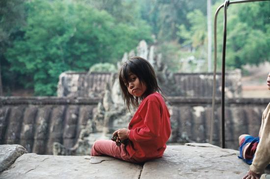 معبد أنغكور وات: Menina em Wankor 