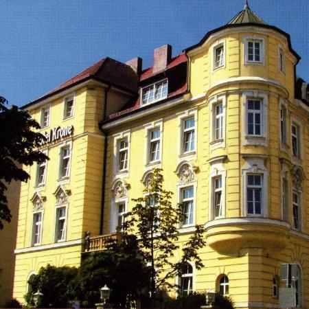 Krone Hotel: Facciata principale rivolta verso la zona dell'Oktoberfest