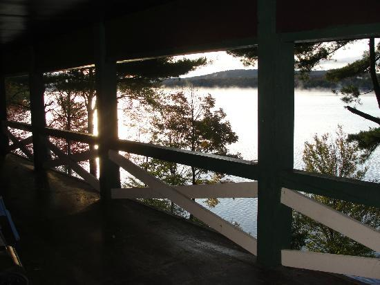 The North Woods Inn: View from the main lodge - upstairs room facing the lake