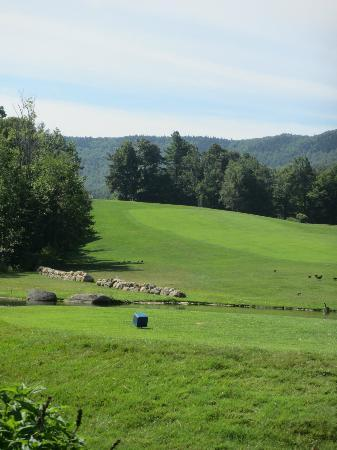 Crotched Mountain Resort & Spa: Section of Golf Course Near building.