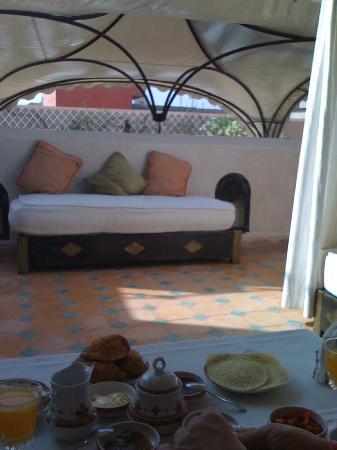 Riad Andalouse: terrasse