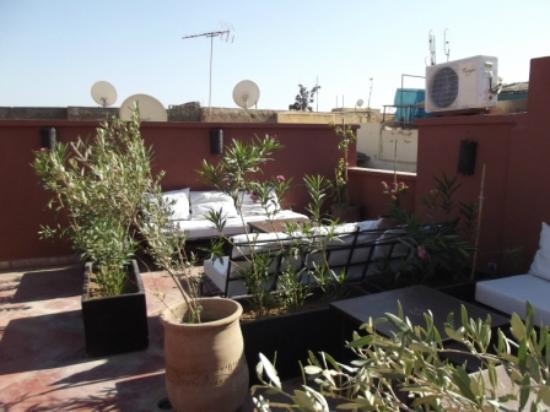 Riad Alnadine: la terrasse