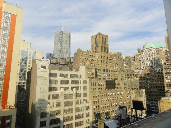 view from room 1208 picture of tryp hotel nyc times. Black Bedroom Furniture Sets. Home Design Ideas