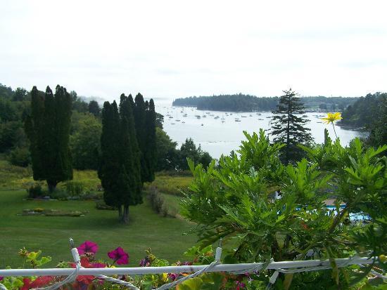 Asticou Restaurant: Sur la terrasse, vue sur la baie de Northeast Harbor