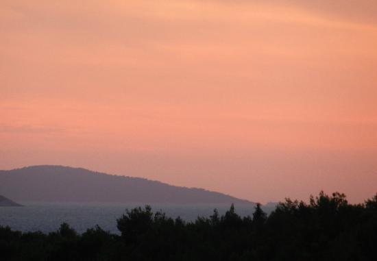 Bluesun Hotel Elaphusa: Sonnenuntergang vom Balkon
