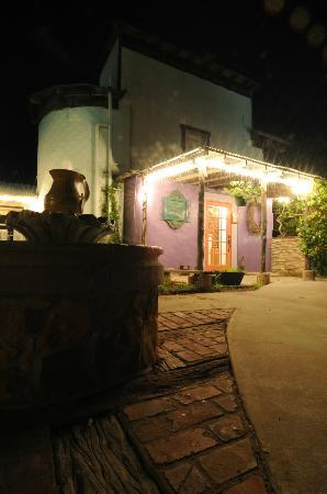 Inn at the Art Center: night view of the Silo