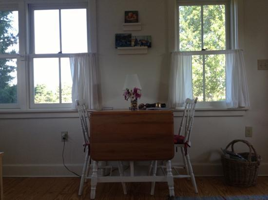 The Broad Meadow Bed & Breakfast: in-room table