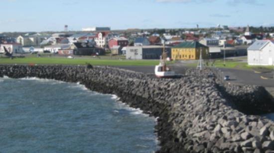Hotel Berg: View from hotel toward Keflavik