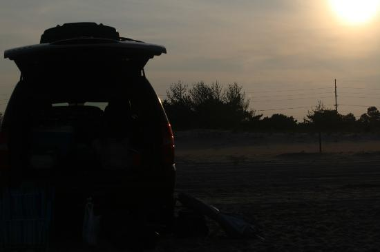 Delaware Seashore State Park : parked on the beach