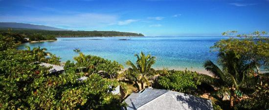 Savaii Lagoon Resort: Looking at the lagoon.