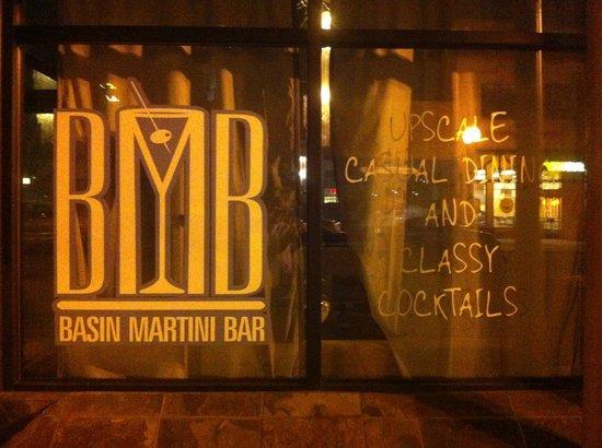 Basin Martini Bar & Restaurant: Basin Martini Bar