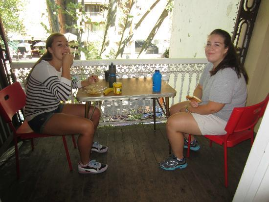 Zing Backpackers: Our private balcony