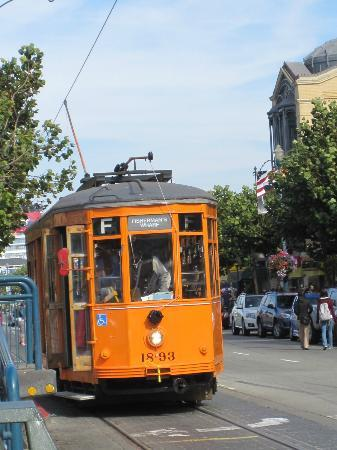 San Francisco Railway Museum: Orange F-Train...cool!