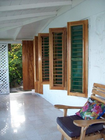 Noel Coward's Blue Harbour: porch of villa chica