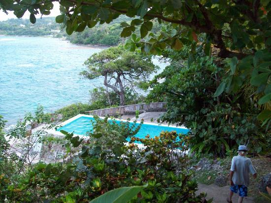 Noel Coward's Blue Harbour: view of the pool from room