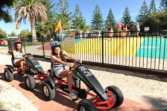 BIG4 Adelaide Shores Caravan Park: Jumping pillows and go-karts!
