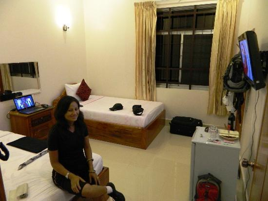 Reaksmey Krong Kep Guesthouse: The bedroom