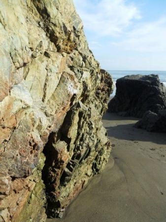 Muir Beach, Kalifornia: rocks