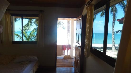 Bottle Beach 1 Resort: view from beachfront bungalow