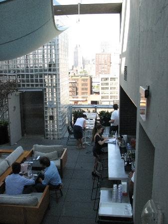 Hotel Americano: Rooftop view north.