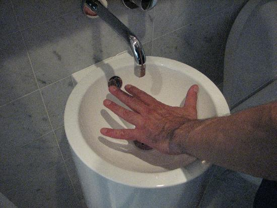 Hotel Americano: Size of sink.
