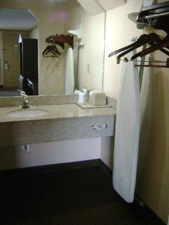 Knights Inn Port Charlotte: Outside the bathroom area, ironing board but no iron